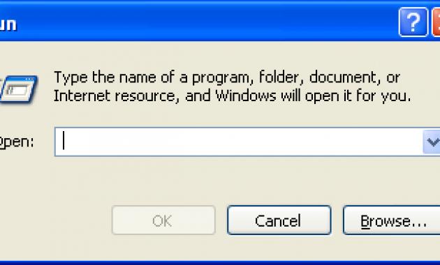Kotak Run Windows XP