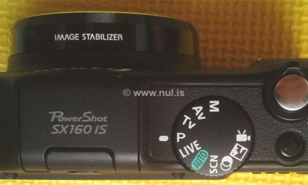 Mode Kamera Canon PowerShot SX160 IS