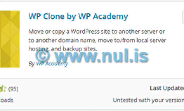 Backup Blog WordPress dengan WP Clone