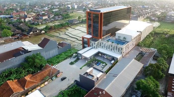 Pemandangan dari Udara Hotel Grand Karlita